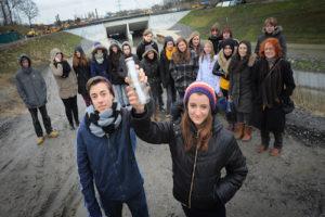 Am Fluss entlang schreiben - Staffelstabübergabe in Castrop-Rauxel